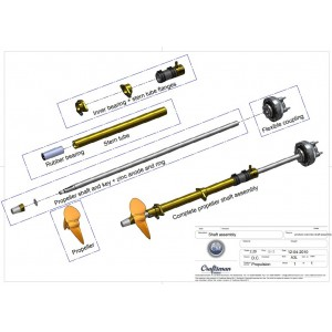 Set inner+outer flanges for inner bearing 30mm