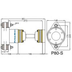 "Python-Drive P80-S30- 4"" adapterflens"