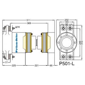"Python-Drive P501-L60- 6"" PRM adapterfl."