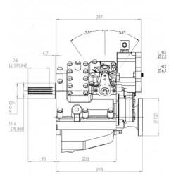 PRM280D2 hydrauliskt backslag.