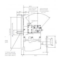 PRM 750D1,5 hydr. scheepskeerkoppeling