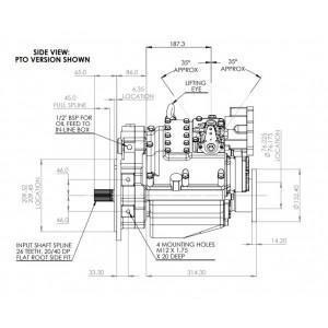 PRM 750C2,5 hydr. scheepskeerkoppeling