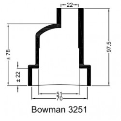 Bowman Gummihylsa 3251