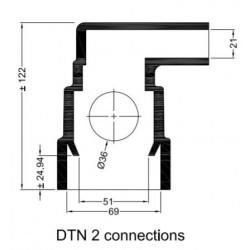 Rubberen mof DTN kap (2 aansluitingen)