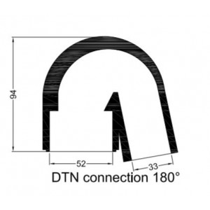Rubberen mof DTN bochtstuk (180°)