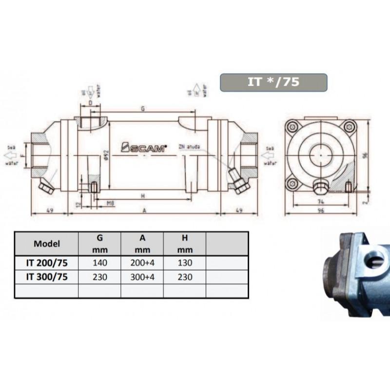 Warmtewisselaar SCAM type 200-75