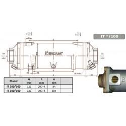 Värmeväxlare SCAM typ 200-100mm