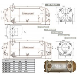 Värmeväxlare SCAM typ 300-130mm