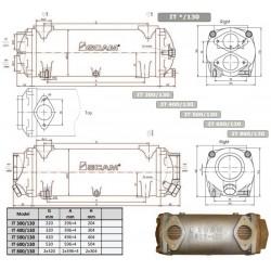 Värmeväxlare SCAM typ 400-130mm