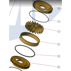 JMP Bronze impeller IMP0063
