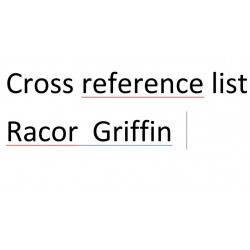 Cross reference list