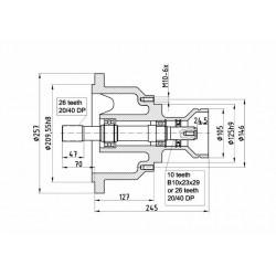 Mercruiser & Volvo stern dr.adap.26 tand