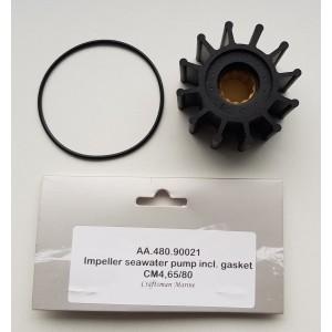 Impeller + gasket seawater pump CM4.65/CM4.80 (pp)