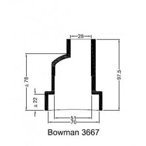 Bowman Gummihylsa 3667