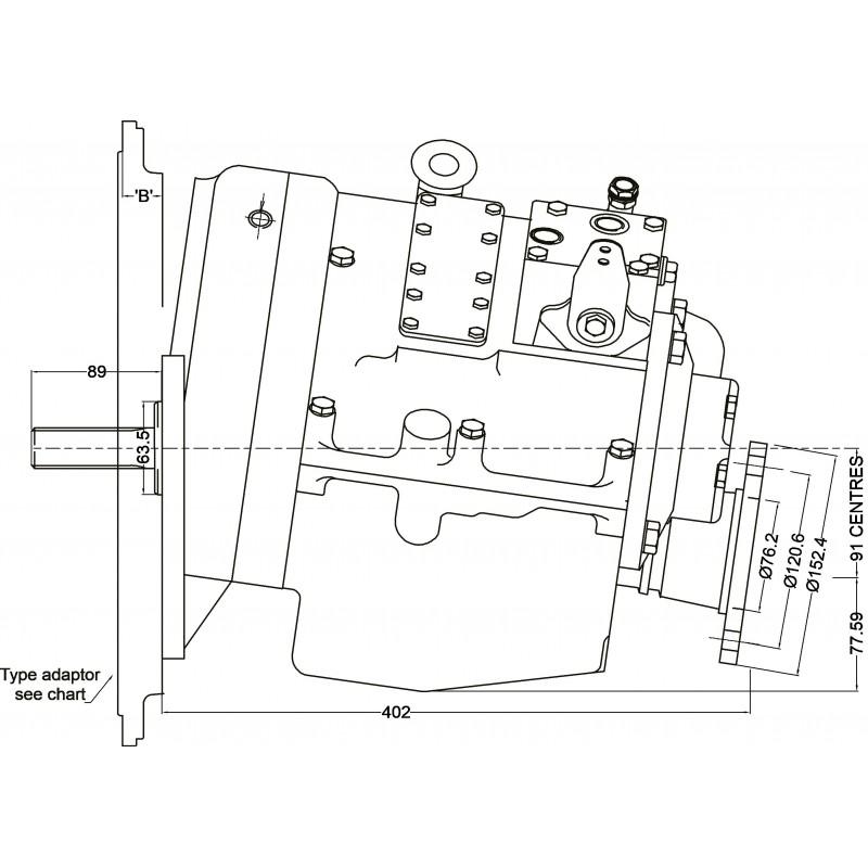 PRM 750A2,5 hydr. scheepskeerkoppeling