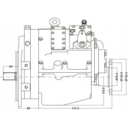 PRM750C1,5 hydrauliskt backslag.