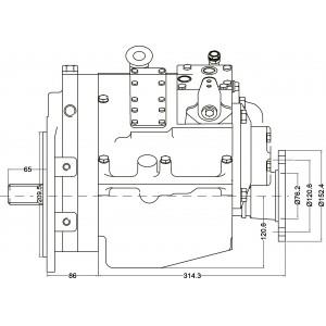 PRM 750C1,5 hydr. scheepskeerkoppeling