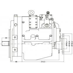 PRM750C2,5 hydrauliskt backslag.