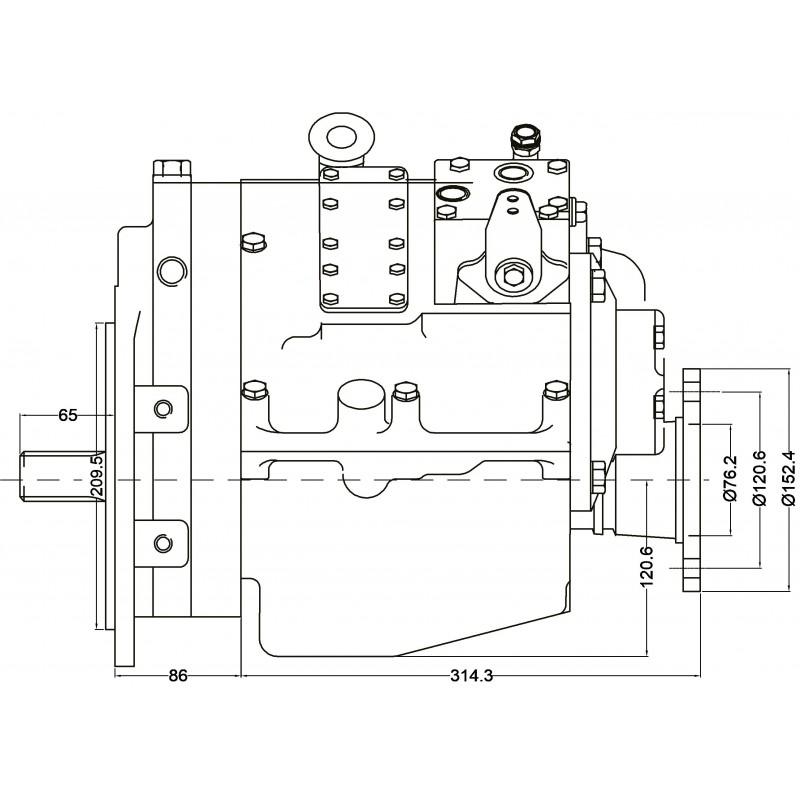 PRM 750C3 hydr. scheepskeerkoppeling