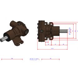 JPR-201P impellerpump med remskiva