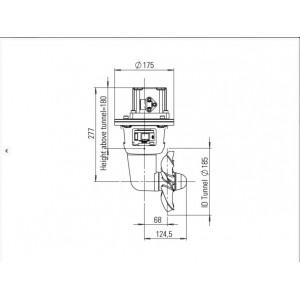 Thruster hydraulic 80-115kgf 6cc