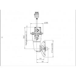 Thruster hydraulic 120-180kgf 11cc