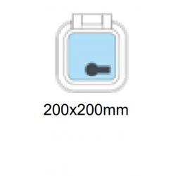 Däckslucka 200x200mm