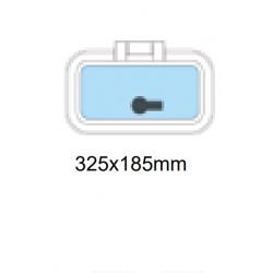 Däcklucka 325x185mm