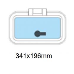 Däcklucka 341x196mm
