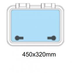 Däckslucka med fläns 450x320mm