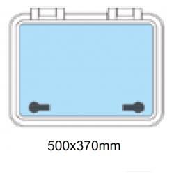 Däckslucka med fläns 500x370mm