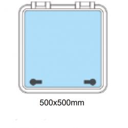 Däckslucka med fläns 500x500mm