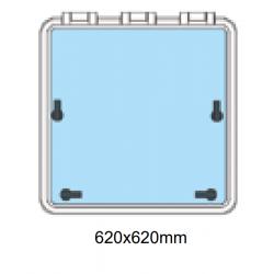 Däckslucka med fläns 620x620mm