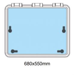 Däckslucka med fläns 680x550mm