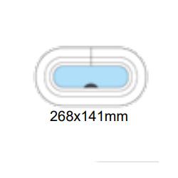 Porthål 268x141mm öppningsbar