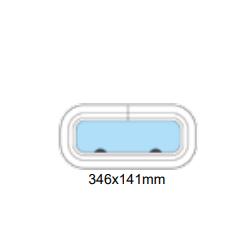 Porthål 346x141mm öppningsbar