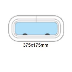 Porthål 375x175mm öppningsbar