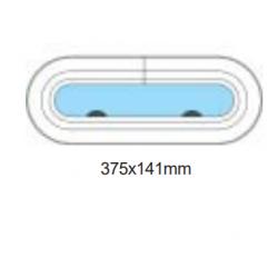 Porthål 375x141mm öppningsbar
