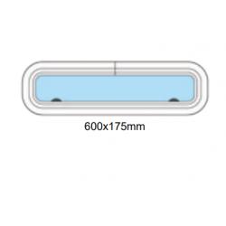 Porthål 600x175mm stängd