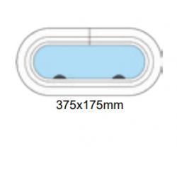 Porthål 375x175mm stängd
