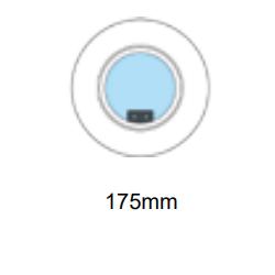 Porthål rund Ø175mm stängd