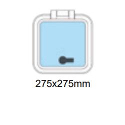 Flushline däckslucka 275x275mm