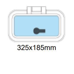 Flushline däckslucka 325x185mm