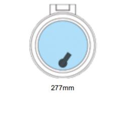 Flushline däckslucka rund Ø277mm.