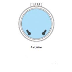 Flushline däckslucka rund Ø420mm