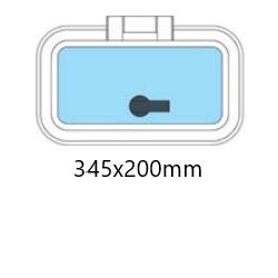 Flushline däckslucka 345x200mm.